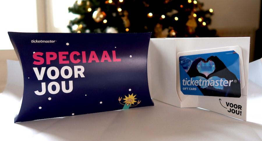 Geef de Ticketmaster cadeaukaart met Kerstmis cadeau, het ideale muziekcadeau